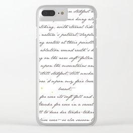 """Bright Star"" - John Keats Print Clear iPhone Case"