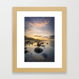 Sunset The Rockery Isle of Wight Framed Art Print
