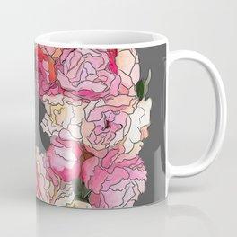 Peony Wreath Painting (dab grey)Feng Shui Coffee Mug