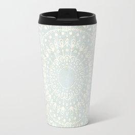 Powder Blue Mandala Travel Mug