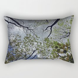 Tree canopy in the spring Rectangular Pillow