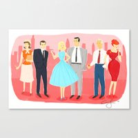 mad men Canvas Prints featuring Mad Men by Ciara Gay