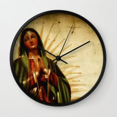 Pray For Us Sinners Wall Clock