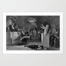 Salem Witch Illustration from 1892 Art Print