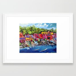 Philadelphia's Boathouse Row Framed Art Print