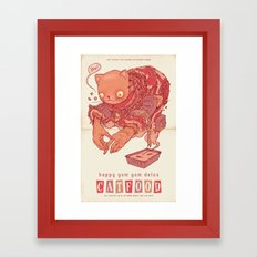 Happy Yum Yum Delux Framed Art Print