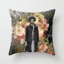 falling flowers Throw Pillow