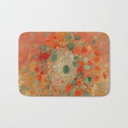 Nasturtiums Flower Painting - Odilon Redon, 1905 Bath Mat