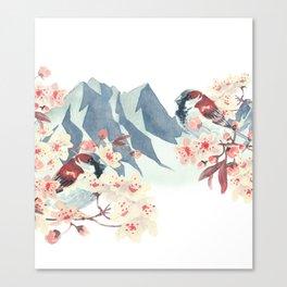 Sparrow Love Canvas Print