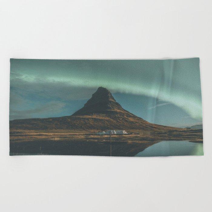 Kirkjufell, Iceland Beach Towel