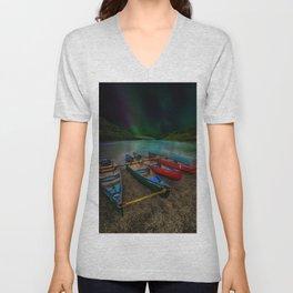 Lake Geirionydd Canoes Unisex V-Neck