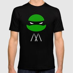 TMNT Mikey poster Black SMALL Mens Fitted Tee