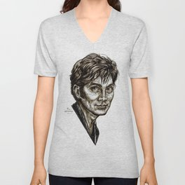 David Tennant - Doctor Who - Allons-y (Drawing) Unisex V-Neck