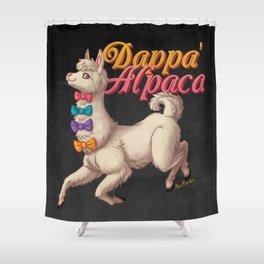 Dappa' Alpaca Shower Curtain