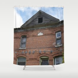 Red Brick Dreams Shower Curtain