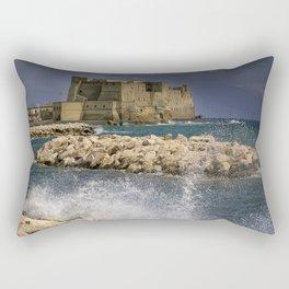 Napoli. Waves on the rocks. Rectangular Pillow