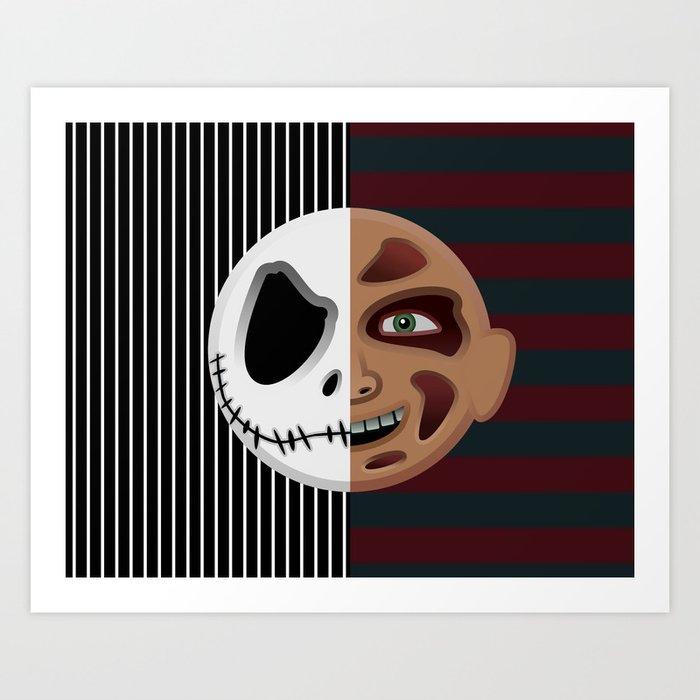 The Nightmare Before Elm Street Art Print