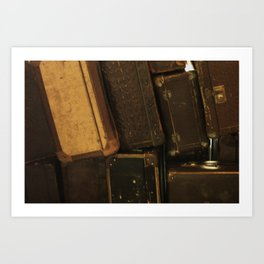 My old suitcases Art Print