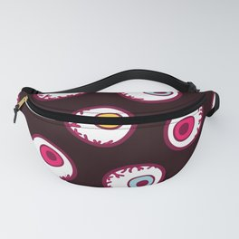 Eyeball Pattern in Black Fanny Pack
