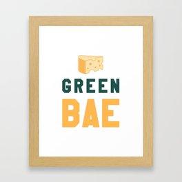 Green Bae   GB Packers Framed Art Print