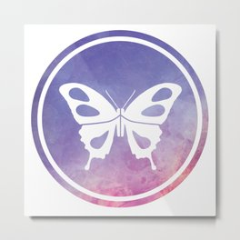 Butterfly Illustration Metal Print