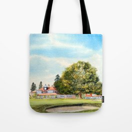 Sunningdale Golf Course 18th Green Tote Bag