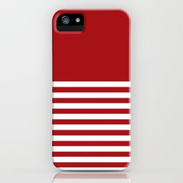 Horizon Xmas Red iPhone Case