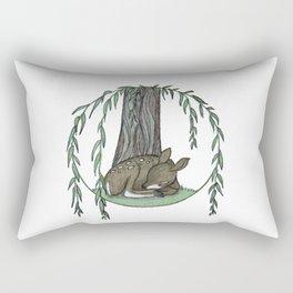 Naptime Under the Willow Rectangular Pillow