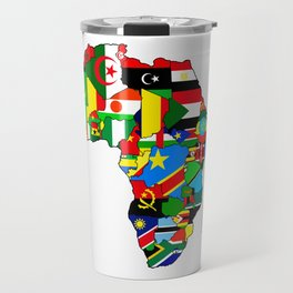 Flags of African countres Africa map Travel Mug