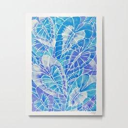 Schismatoglottis Calyptrata – Blue Palette Metal Print