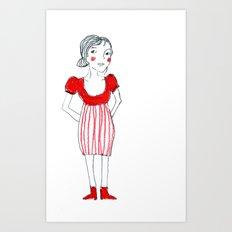 Adoro il rosso Art Print