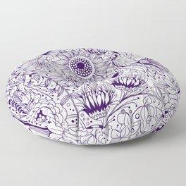 Floral doodles Floor Pillow
