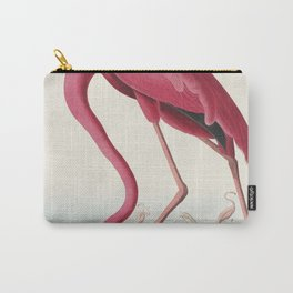 Pink Flamingo from Birds of America (1827) by John James Audubon (1785 - 1851 ), etched by Robert Havell (1793 - 1878) Carry-All Pouch