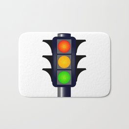 Hooded Traffic Lights Bath Mat