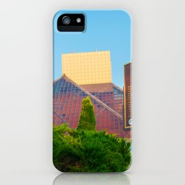 Cleveland Ohio Rock And Roll Hall Of Fame Pyramid View iPhone Case