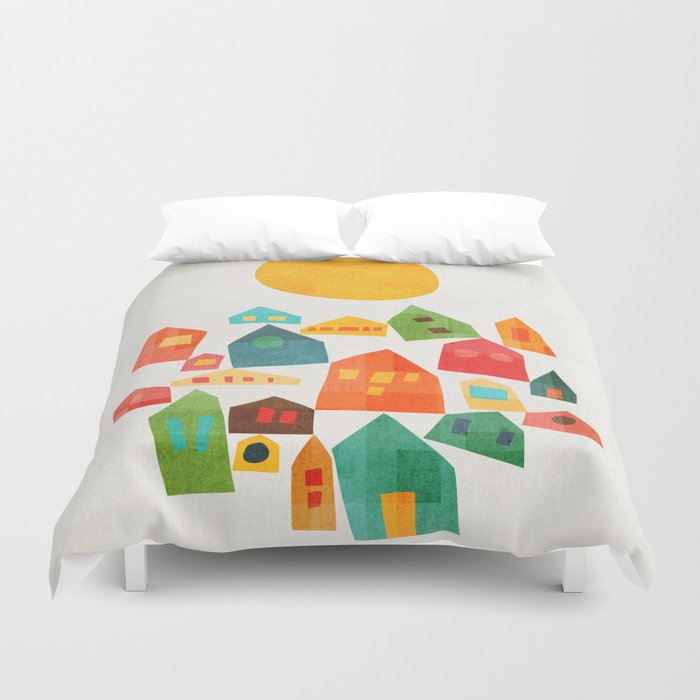 Looking at the same sun Duvet Cover
