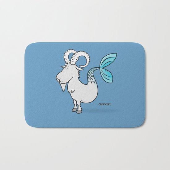 funny zodiac/capricorn Bath Mat
