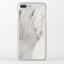 Cloudy Waterfalls Clear iPhone Case