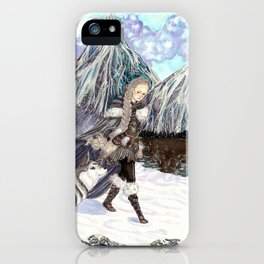 Goddess of Winter and Hunt iPhone Case