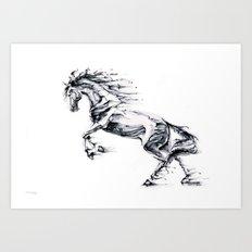 Horse Tales Art Print