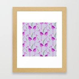 Flattering Flamingos (Purple) Framed Art Print