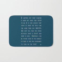 Dumbledore wise quotes Bath Mat