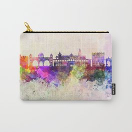 Pune skyline in watercolor background Carry-All Pouch