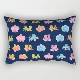 Orchid mantis - Dark Rectangular Pillow