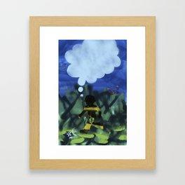 Boy with Fig Leaf Framed Art Print