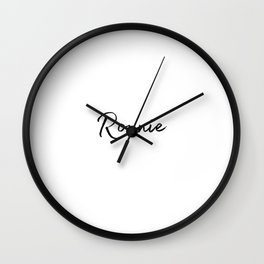 Ronnie Calligraphy Wall Clock