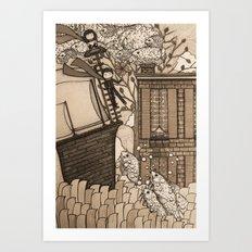 Adventure (in sepia) Art Print