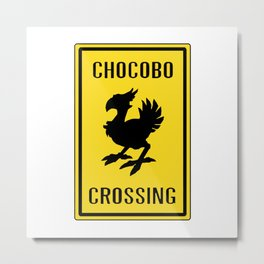 FINAL FANTASY: WARNING, CHOCOBO CROSSING Metal Print
