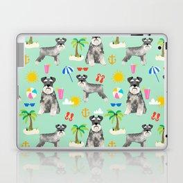 Schnauzer dog breed summer tropical dog pattern gifts schnauzers Laptop & iPad Skin