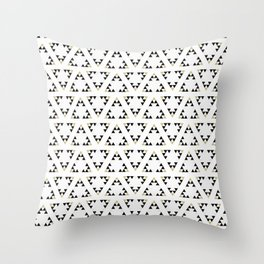 Black and White Triangles Manchester Architecture Collection Throw Pillow